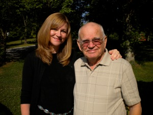 Melanie and Grandpa Kilby