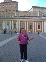 Kathy at the Vatican