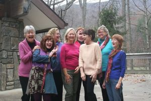 Some of the retreat participants. The author is in the second row, in purple.