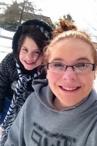 Tayler and Toddy in 2015 snow