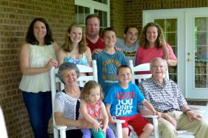 Grammie, Grandad, and family