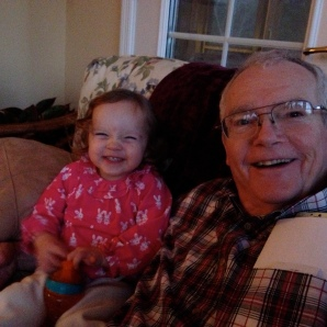 Lila (2) and Grandad