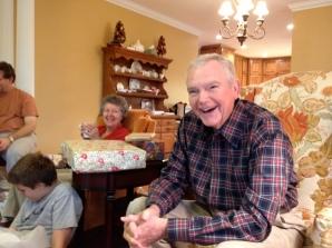 Grandad at Christmas 2013