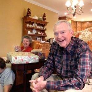 Grandad at Christmas 2013
